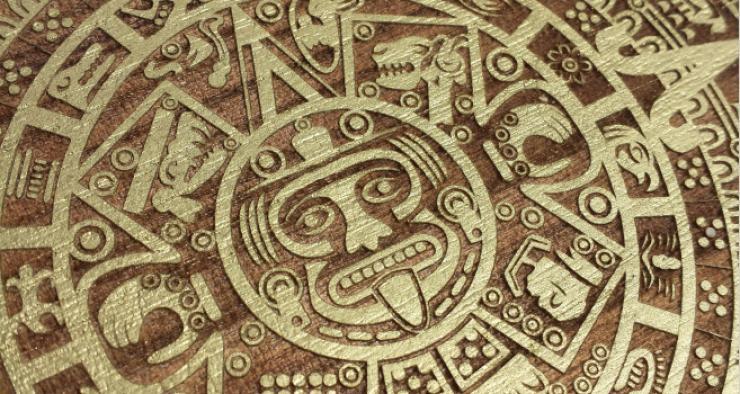 Maya Kalender - Lasergravur in Holz
