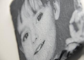 Fotogravur auf Schiefer